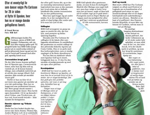 Golfbladet artikel august 2021